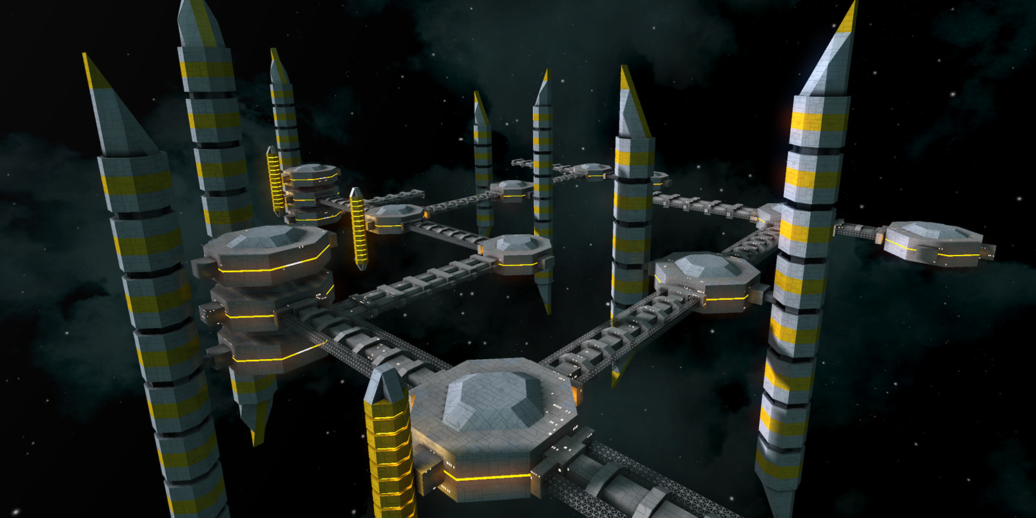 A large space-city-like station built by a player