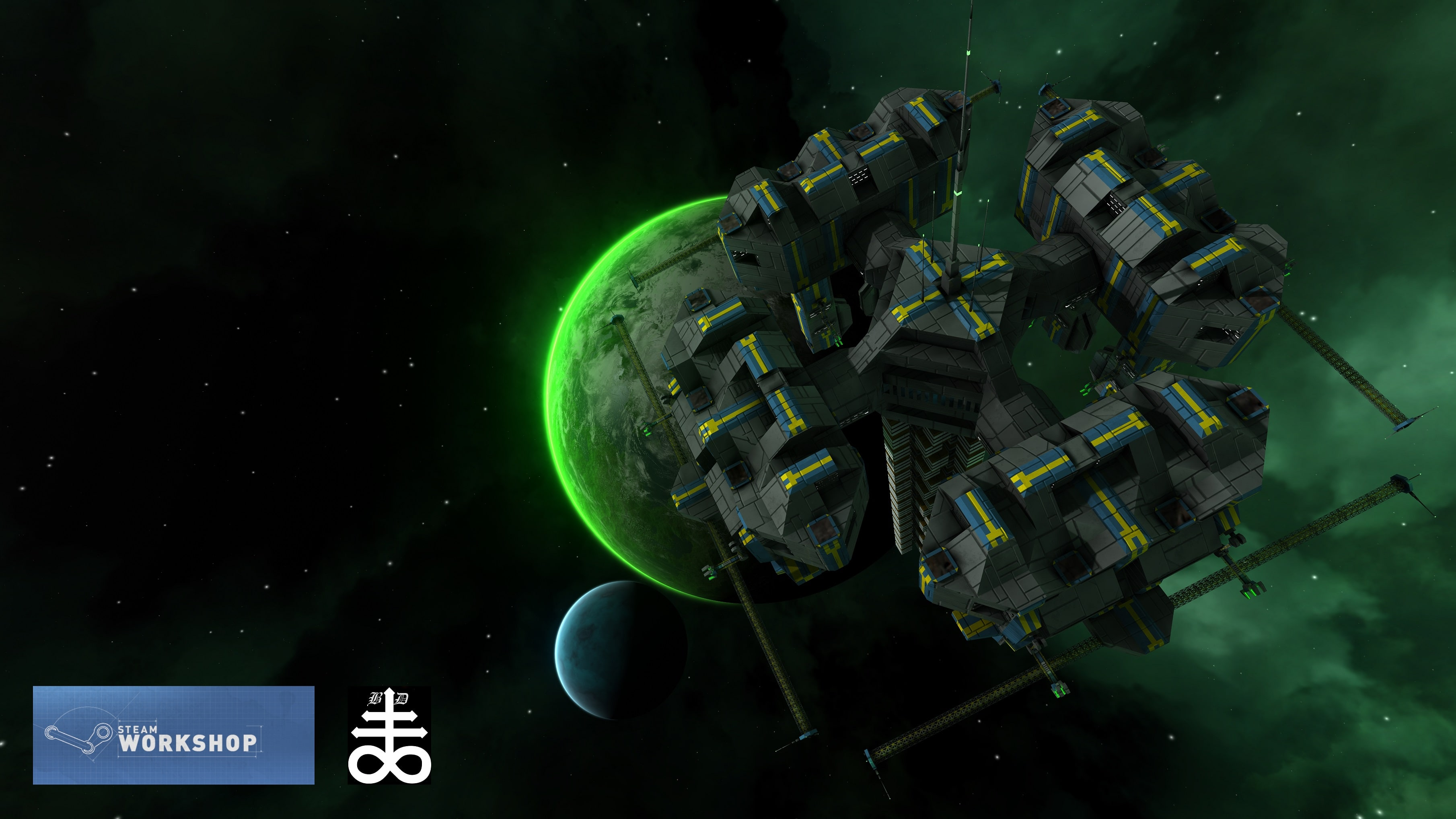 A ship built by black_disciple and published on the steam workshop.